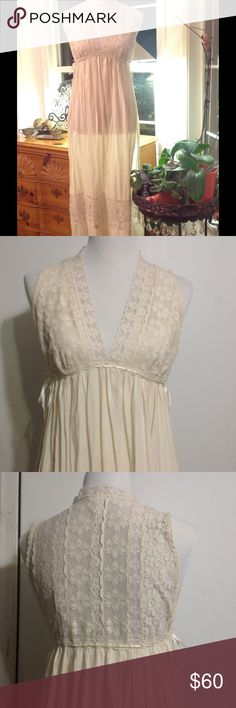 SALE Miss Dior 1960's nightgown lace duster Gorgeous miss Dior Victorian duster. One of a kind with side ties. Deep v neck. This can also serve as a nightgown duster. Great Vintage condition. This is made for a tall woman. Miss Dior  Tops Tunics