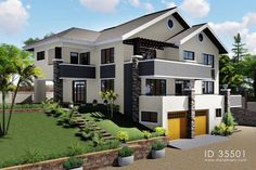 House plan with basement and double garage - ID 35501