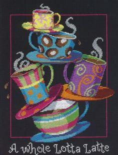 Вышивка Кофейная пирамида (Dimensions)