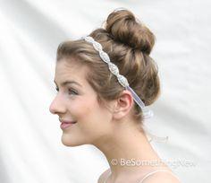 Crystal Rhinestone Head Band Ribbon Tie Bohemain by BeSomethingNew #giftsunder50 #elite16