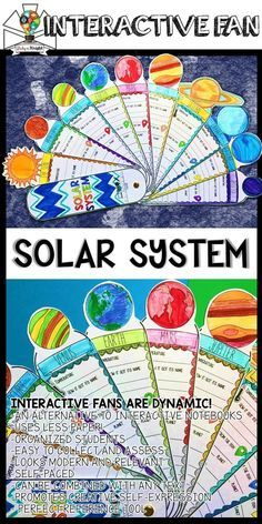 SOLAR SYSTEM ACTIVITY, PLANETS, RESEARCH, FACTS FILL IN, INTERACTIVE FAN | Science | Astronomy | Upper Elementary | Middle School | -AN ALTERNATIVE TO INTERACTIVE NOTEBOOKS -USES LESS PAPER! -ORGANIZED STUDENTS -EASY TO COLLECT AND ASSESS -LOOKS MODERN AND RELEVANT -SELF-PACED -CAN BE COMBINED WITH ANY TEXT -PROMOTES CREATIVE SELF-EXPRESSION - PERFECT REFERENCE TOOL