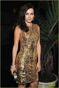 Camilla Belle in Monique Lhuillier - 'W' Magazine's Pre-Golden Globes Party