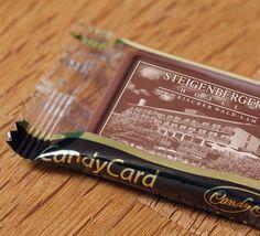 #CandyCards, #cioccolatini #personalizzati con stampa sulla superficie in #HD del vostro #logo, #immagini e #fotografie. Scoprite CandyCard Italia, lasciate un dolce ricordo di voi :)