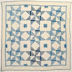 Touching Stars Quilt: Circa 1880; Pennsylvania