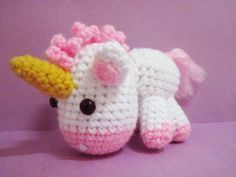 FREE Amigurumi Unicorn Crochet Pattern and Tutorial - It may not be fluffy, but - IT'S SO CUTE I'M GONNA DIE! :-)