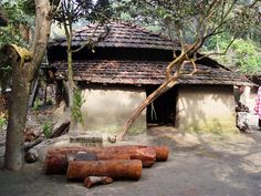 Clay house in Bangladesh village where people normally live Village Photography, Photography Poses, Landscape Photography, Watercolor Landscape Paintings, Watercolour, Oil Paintings, Mud House, Village Photos, Indian Village