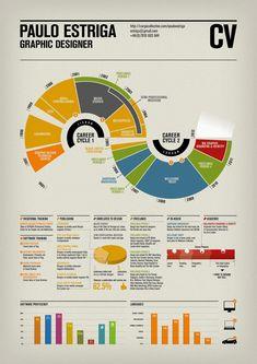 Paulo Estriga | Infographic CV | via It's Nice That