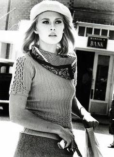 Faye Dunaway in 'Bonnie and Clyde', 1967.