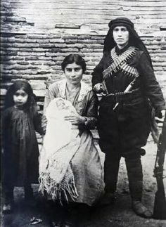 "Fedai woman with her two daughters. Photo 1920 became famous, made ​​the cover of the book ""The struggle of women in the Artsakh war."""