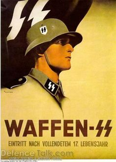 This poster is telling people that they may join the Waffen SS after 17 years of age.