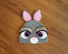 Zootopia Judy Hopps Hat Judy Hopps Crochet by TheCranberryCreek