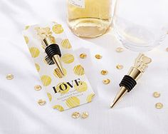 LOVE Gold Bottle Stopper