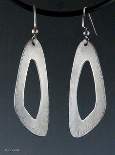 Silver Empty Triangle Earrings