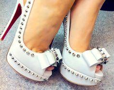 gorgeous white heels