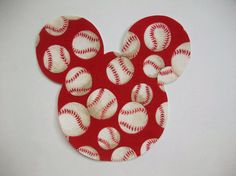 DIY Mickey Mouse Baseball Applique - Iron On on Etsy, $2.10
