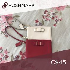 Coach wristlet Both wristlets are in excellent condition with little to no signs of wear Coach Bags Clutches & Wristlets Coach Wristlet, Hermes Kelly, Wristlets, Coach Bags, Clutches, Shop My, Fashion Tips, Fashion Trends, Signs