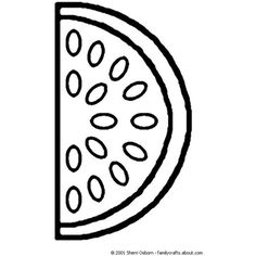 watermelon coloring page liked on polyvore featuring graphics