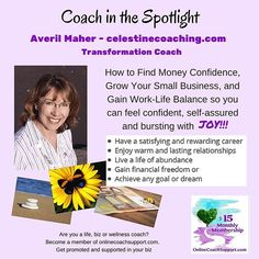 Imagine a life where you no longer need to worry about money. Where you can step into your power and become successful and abundant in every way. Whether you are just starting out on your personal development journey, or you are ready to take the next step, Averil invites you to contact her to find out how your life could change now.  Coaching specialties include Work Life Balance, Live Your Dreams, Discover your Money Personality and Money Confidence.  Averil also runs Law of Attraction…