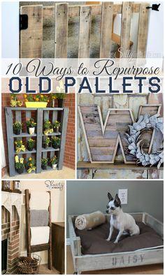 10 WAYS TO REPURPOSE OLD PALLETS