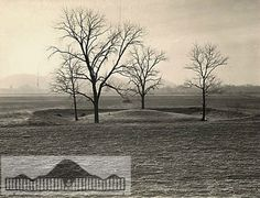 Burial mound noted as the Biggs mound on the Kentucky side of the Portsmouth, Ohio earthwork complex is also most closely aligned to what is known as a Bell Barrow in England.
