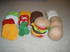 Felt play food - so much better than the plastic kind!