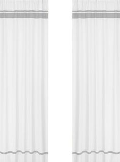Hero Room Curtains- White with gray stripes