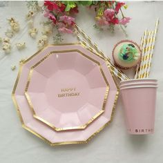 Beauty plate cups square gold charger plates