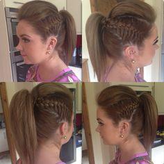 💇 Hair Styles, Earrings, Fashion, Hairdos, Hair Plait Styles, Ear Rings, Moda, Stud Earrings, Fashion Styles