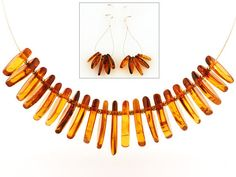 Baltic Amber Necklace and Matching Earrings Polish Amber Real Honey Amber Necklace and Earrings Genuine Baltic Amber stone by Silver925Gemstones on Etsy