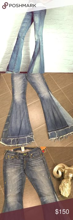 True religion bell bottoms Vintage bell bottom jeans - one of a kind  True Religion Pants Wide Leg