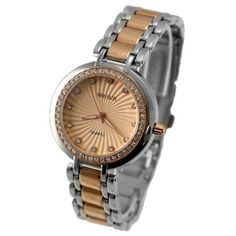 FW875A Rose Gold Tone Dial PNP Shiny Silver Watchcase Ladies Women Fashion Watch
