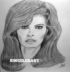RACQUEL WELCH /US. CELEBRITY REALISM  GRAPHITE PENCIL DRAWING BY ARTIST #Realism