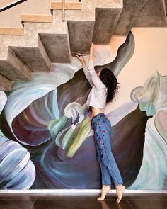 Elegant Wall Art Painting Murals Beautiful Wall Arts Lovely Flower Murals Transform Ordinary Rooms into Spaces Mural Wall Art, Mural Painting, Street Mural, Street Art, Flower Mural, Wall Drawing, Arte Floral, Fantastic Art, Beautiful Wall
