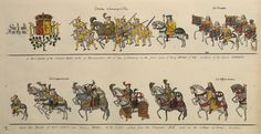 The Tournament of King Henry VIII, February 12, 1510; ingraved from an antient roll in the Heralds Office, London, in six plates (Plate 22)