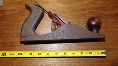 Antique Carpentry tool VICTOR SMOOTH BOTTOM BENCH WOOD PLANE #Victor
