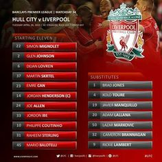 Hull City - Liverpool FC