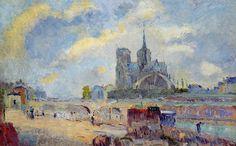Notre-Dame de Paris and the Bridge of the Archeveche. Albert Lebourg