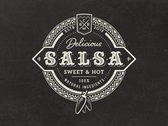 Vintage Salsa Logo  by Mathias Temmen