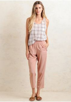 These pink pants are perfect for creating a stylishly chic ensemble.