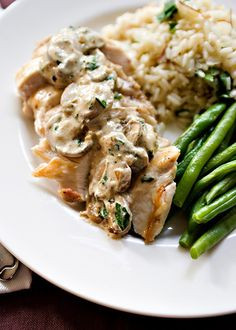 Chicken with Boursin Mushroom Sauce Chicken with Boursin Mushroom Sauce Emily Byrne efbyrne Food Ideas I get tired of making the same things over and nbsp hellip Cheese Recipes Sauce Boursin, Boursin Cheese, Boursin Recipes, Cheese Recipes, Chicken Sauce Recipes, Jai Faim, Cooking Recipes, Recipes, Chicken