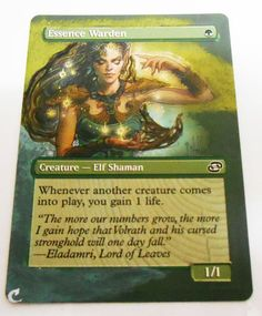 MTG Altered Painted Essence Warden Planar Choas #WizardsoftheCoast