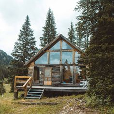 "5,530 Likes, 50 Comments - Cabin Folk (@cabinfolk) on Instagram: ""Big windows for big views! Photo by @lostintheforrest Share your cabin adventures with us :…"""