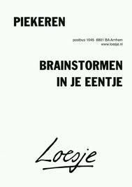 Piekeren, brainstormen in je eentje | worrying, brainstorming alone