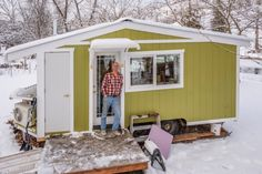 It's now one year later – in seven months of leisurely construction and frantic downsizing I have built, and moved into, my 125-square-foot tiny house on wheels. I am irrationally happy in my new home, and I now feel somewhat qualified to suggest some design considerations for small living spaces.