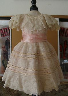 Fabulous Antique Muli Layered Silk Lace Dress 4 Antique German French Dolls | eBay