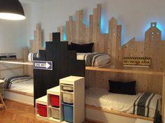 Ikea Kura triple bunk bed