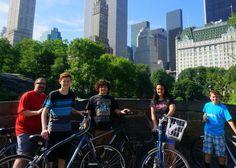 Family bike ride around Central Park NYC