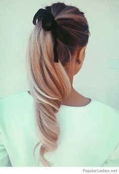 Sweet high pony and bow