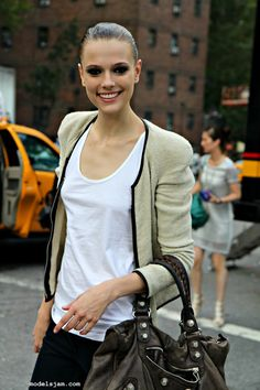 Martha Streck's cool jacket, at New York Fashion Week 2011.