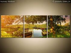 Tlačený obraz Člny na jazere 90x30cm 2046A_3A